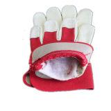 Свинья Grian кожаные перчатки работы с задней панели