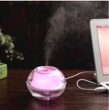 Cor 2018 ultra-sônica do humidificador inovativo do USB do produto mini que muda o humidificador do ar do difusor do aroma do diodo emissor de luz