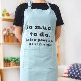 Fita para o pescoço ajustável de lona de algodão avental de cozinha com design personalizado