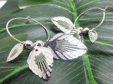 Oorringen van de Vrouwen van de Juwelen van de Kleur van de Manier van het kostuum de Zilveren