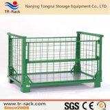 頑丈な倉庫の記憶の鋼鉄ケージかスタック可能鋼鉄容器