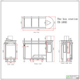 Form-Entwurf, der kundenspezifischen Bushaltestelle-Schutz bekanntmacht