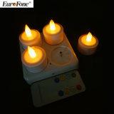 O diodo emissor de luz recarregável de controle remoto Candles a luz