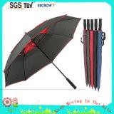 Зонтик зонтика гольфа сжимающего волокна Windproof