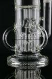 De Waterpijp van het Glas van de Ring van de Recycleermachine van Tripple met Raketten Perc