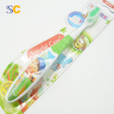 Kleurrijke Tandenborstel van het Gebruik van vier van Kleuren pp de Zachte Jonge geitjes van de Zorg Dagelijkse
