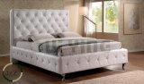 كلاسيكيّة غرفة نوم سرير تصميم بلورات جلد سرير
