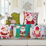 De vrolijke Katoenen van het Huis van Kerstmis Decoratieve Linnen Afgedrukte Dekking van het Kussen (35C0179)