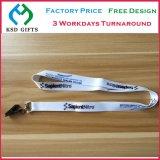 O costume barato da fábrica imprimiu/tecido/Calor-Transfere o colhedor da garganta com laço oval