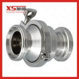 """1"""" 25,4mm de aço inoxidável 316L da válvula de retenção da mola de fechamento sanitárias"""