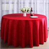 A roupa branca de poliéster Jacquard Toalha de mesa redonda