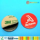 Tag passivo do PVC Ntag216 NFC de ISO14443A para pagamentos espertos do telefone