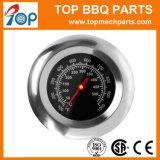 타원형 모양 열 표시기 스테인리스 BBQ 석쇠 뚜껑 온도계