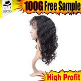 100 % обработанных Virgin индийского полного кружева Wig продуктов