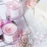 Glasglas-Kerze mit Abdeckung-Kappe und Eigenmarke