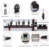 Professional tube carré Machine de découpe laser à fibre avec 1000W