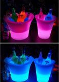 Cubeta de gelo feita sob encomenda da cerveja do vinho com luz do diodo emissor de luz