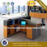 Armoire en bois moderne de verre aluminium / bureau de poste de travail Partition (HX-8N0185)