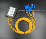 Разъем Scpc Splitter PLC пластичной коробки Gpon Epon 1X8 кабеля волокна