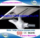 Hete Yaye 18 verkoopt de 5 LEIDENE van de Sensor van de Motie van de Garantie van de Jaar Waterdichte IP66 50W ZonneLamp van de Straatlantaarn met Ver Controlemechanisme