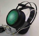 Качество фабрики звучает свет СИД с наушниками игры микрофона профессиональными