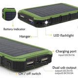 Banco portátil da potência solar da capacidade total 8000mAh para o dispositivo do GPS