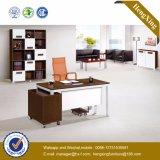 Bureau moderne de boîtier de meubles de bureau de noix (HX-UN049)