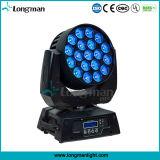 Luces principales móviles completas de la viga 19X15W LED del zoom de RGBW