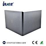 6 인치 A5 가장 새로운 권유 영상 브로셔 카드 LCD 영상 인사장 OEM