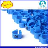 Anéis plásticos impressos número do grampo do laser