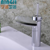 Productos/surtidores de China. Grifo de cobre amarillo del lavabo de la palanca del nuevo estilo solo (A-3001)