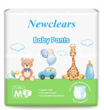 O OEM cresce acima o tecido das calças do bebê
