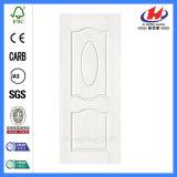 Fuera de plano mejor HDF Piel de la puerta de melamina de roble blanco
