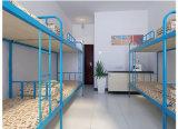 寮のための学校家具の二段ベッドの白い二重鋼鉄ベッド