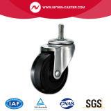 schwarze industrielle Gummifußrolle 3inch mit Bremse