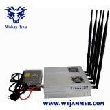 Antena 5 25W de alta potencia Jammer celular 3G (con fuente de alimentación desmontable exterior)