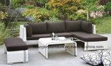Rattan del balcone della mobilia del patio poli/sofà di vimini (TG-JW17)