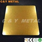 Vibração de aço inoxidável de aço inoxidável com cores de revestimento Ti-Gold