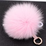 Sfera Handmade Keychain della pelliccia del fiocchetto della pelliccia che tinge la pelliccia di Fox