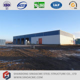 Entrepôt léger préfabriqué de structure de bâti en acier
