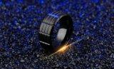 Ring van de Vinger van de Mensen van het Roestvrij staal van de manier de Zwarte Enige
