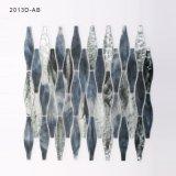 Het zilveren Nieuwe Mozaïek van de Tegel van het Gebrandschilderd glas van het Ontwerp voor de Decoratie van de Keuken