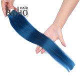 Dubbel Haar de Blauwe Band van 16 Duim in de Braziliaanse Uitbreiding van het Menselijke Haar