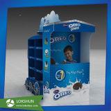 Étalage recyclable de carton d'étage, stand de crémaillère d'étalage de papier ondulé