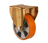 chasses industrielles en aluminium de norme européenne de roue du faisceau Polyurethane/PU de 100mm/125mm/160mm/200mm