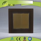 Interruttore ROSSO certificato della parete di modo del gruppo 1 del vetro temperato 2 di standard europeo dei CB del CE di TUV