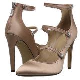 女性ハイヒールの靴のRunto中国ポンプ製靴工場の方法服