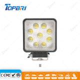 27W quadratisches LED Punkt-Flut-Fahrzeug-Licht für 4X4 nicht für den Straßenverkehr