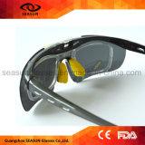 El Tac superior polarizó el montar a caballo anti de la miopía de los rasguños UV400 que se ejecutaba conduciendo las gafas de sol del tirón de Sunglass