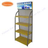 Exposition permanente de plancher en métal 2 niveaux Rack d'affichage d'huile moteur